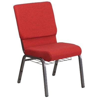 Flash Furniture HERCULES Series 18.5''W Church Chair with Book Rack