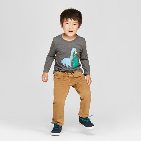1d76caefb04fd Toddler Boys  Dinosaur Graphic Long Sleeve T-Shirt - Cat   Jack™ Charcoal.  Shop all Cat   Jack™