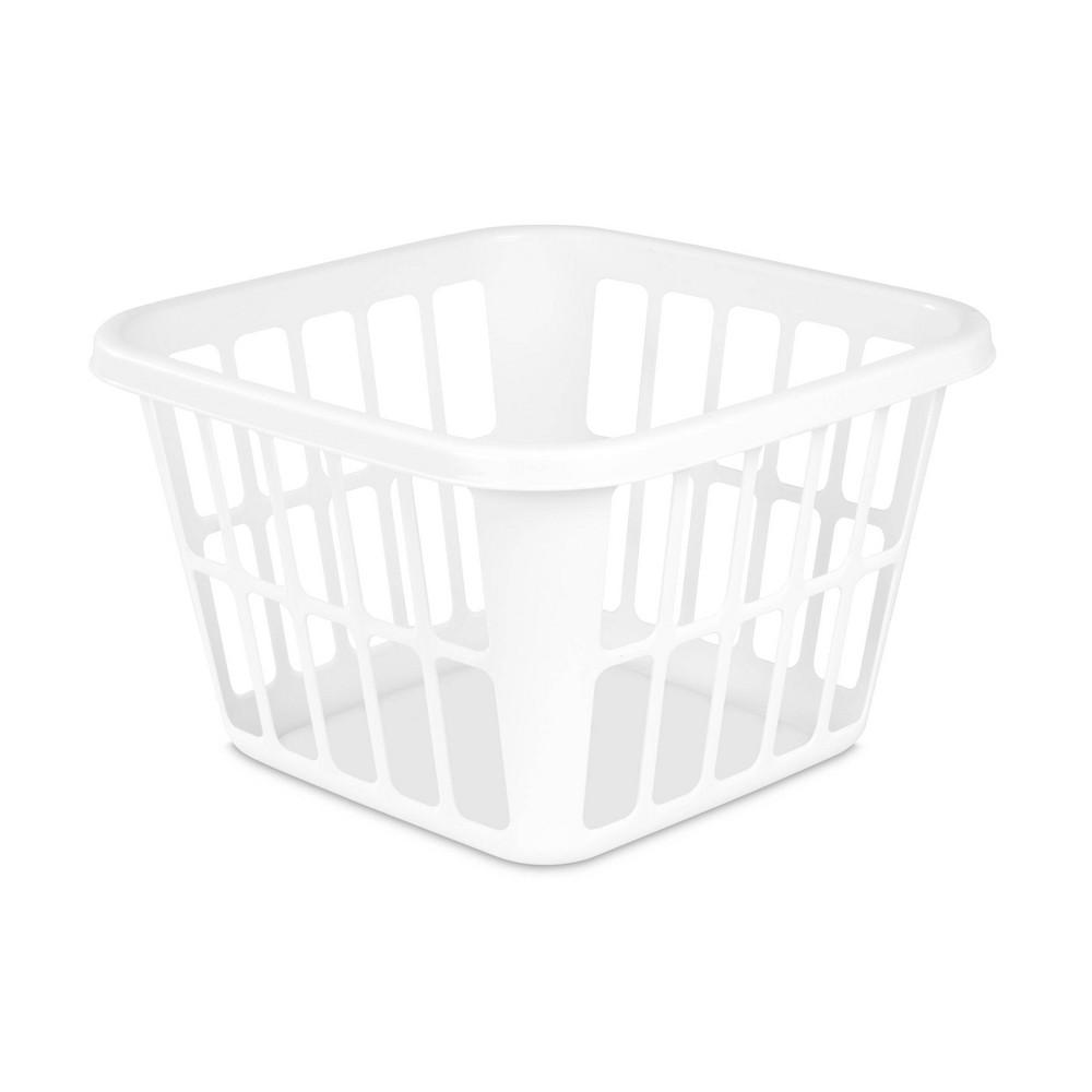Image of 1.25bu Laundry Basket White - Room Essentials