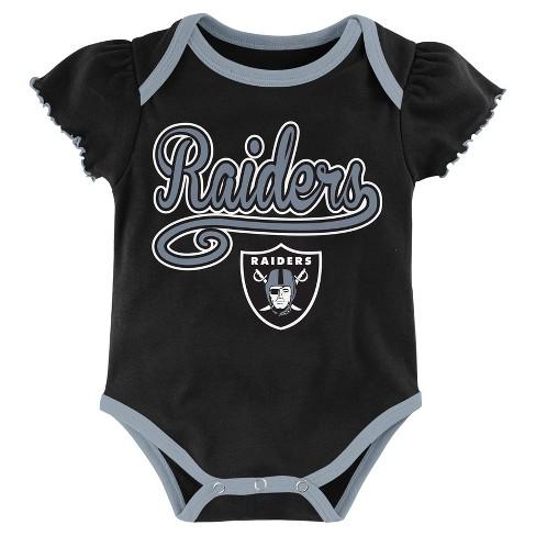 e0d39622e Oakland Raiders Baby Girls' 3pk Bodysuit Set - 18 M : Target