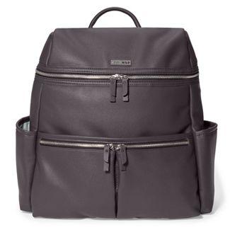 Skip Hop Flatiron Diaper Bag backpack - Gray Raisin