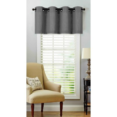 Regal Home Collections Oversized Grommet Top Window Valance 50 In W X 18 In L Gray Target