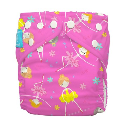 Charlie Banana Reusable All-in-One Cloth Diaper - Diva Ballerina Pink - image 1 of 4