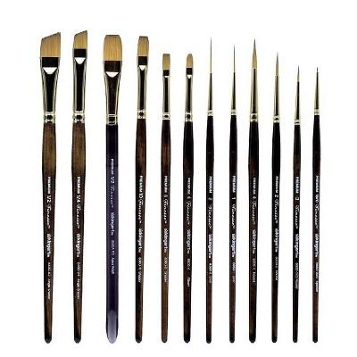 Kingart 12pc Finesse Paint Brush Set