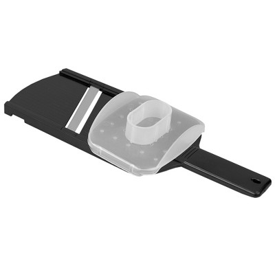 Home Basics Plastic Mandolin Slicer with Handle, Black