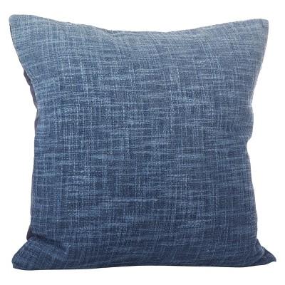 Navy Blue Lancaster Ombre Design Throw Pillow (20 )- Saro Lifestyle®