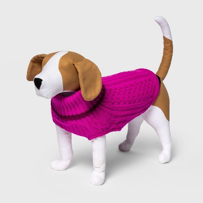 Tipped Cable Knit Turtleneck Dog Sweater - Boots & Barkley™