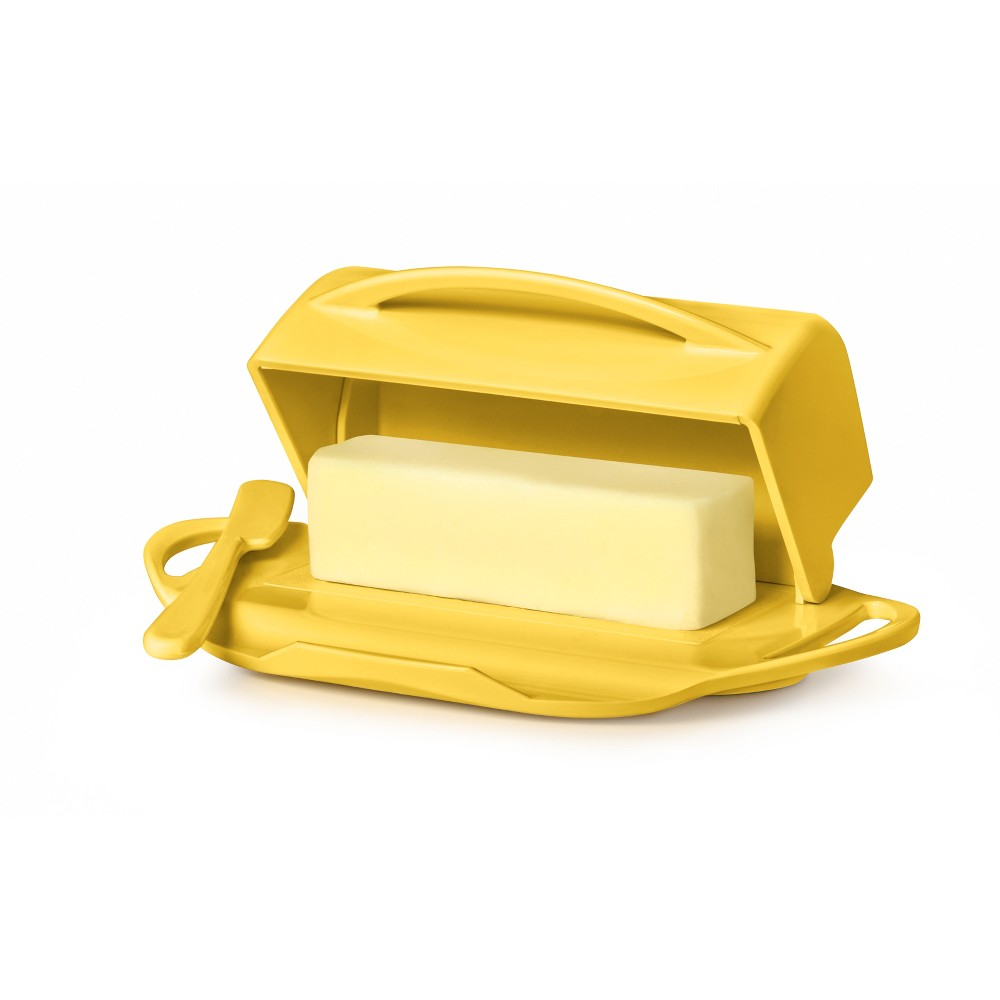 Image of 8oz Butter Dish Yellow - Butterie