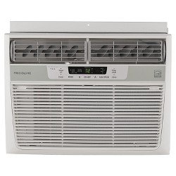Frigidaire 12000 BTU 115V Window Mounted Compact Air Conditioner with Temperature Sensing Remote White
