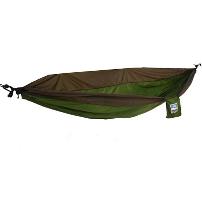 Equip 1Person Travel Hammock - Army Green/Sand Brown