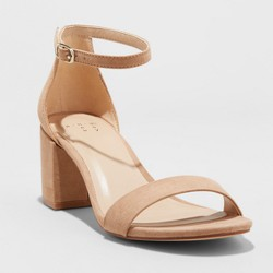 Women's Michaela Mid Block Heel Pump Sandals - A New Day™