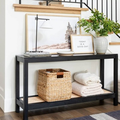Black Console Front Entry Table Collection - Threshold™ designed with Studio McGee