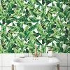 RoomMates Palm Leaf Peel & Stick Wallpaper Green/White - image 2 of 4