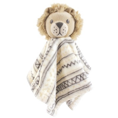 Hudson Baby Infant Animal Face Security Blanket, Lion, One Size