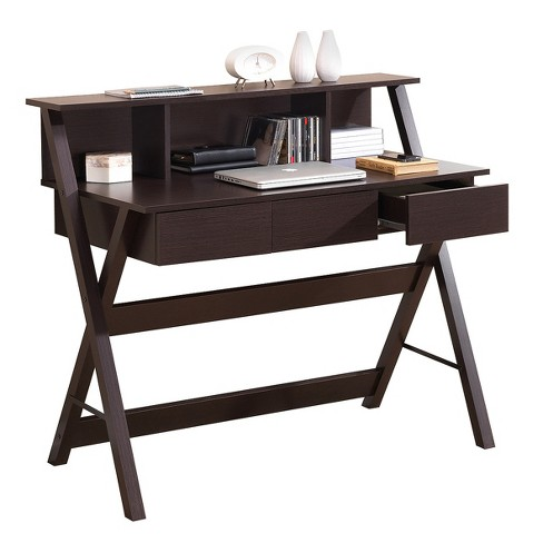 Writing desk with storage wenge techni mobili target for Center mobili outlet