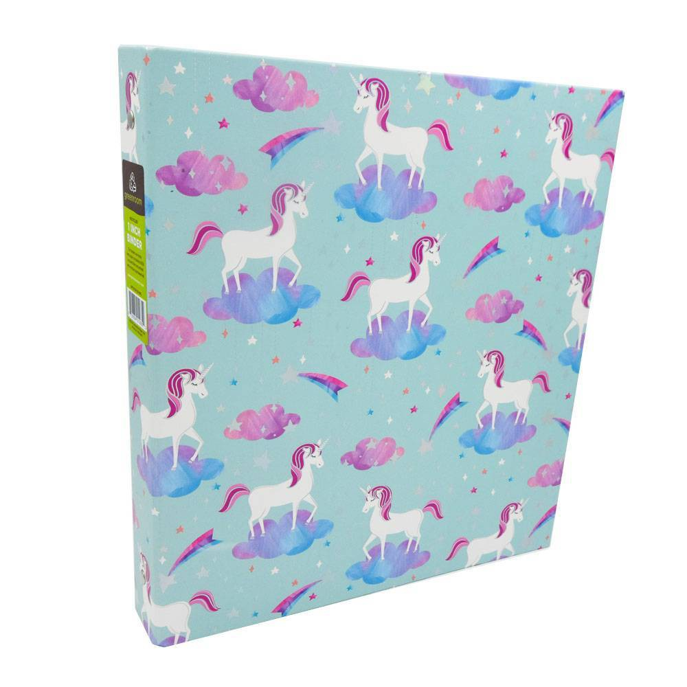 "Image of ""175 Sheet 1"""" Ring Binder Unicorns - Greenroom"""