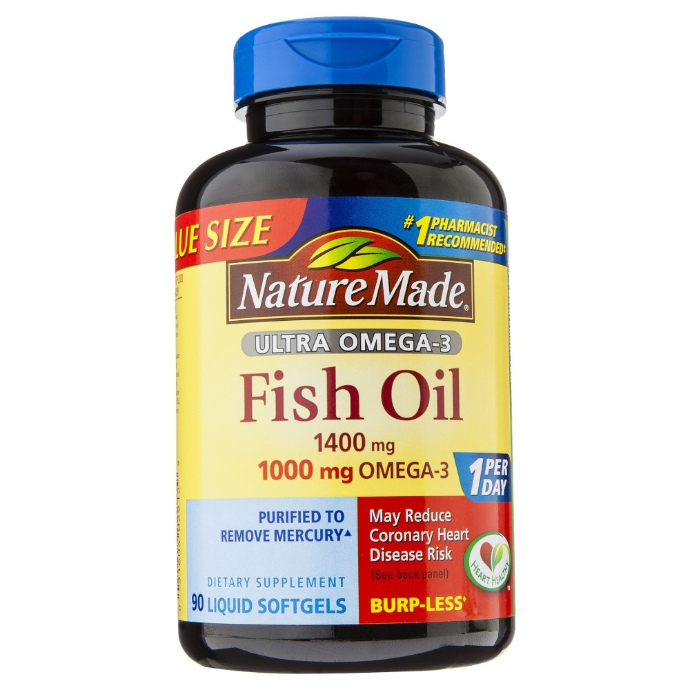 Nature Made Ultra Omega-3 Fish Oil Dietary Supplement Liquid Softgels - 90ct