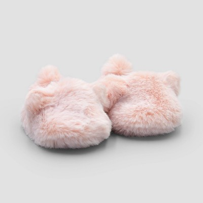 Baby Girls' Bear Constructed Bootie Slippers - Just One You® made by carter's Pink