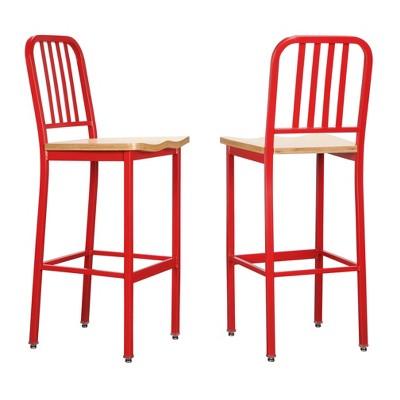 Set of 2 Frazier Metal Barstools - Linon