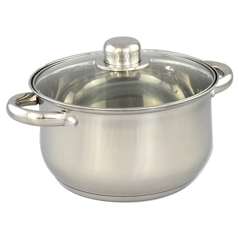 Gourmet Chef 8qt Stainless Steel Stock Pot with Glass Lid - image 1 of 1
