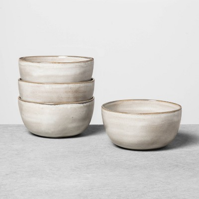 4pk Reactive Glaze Stoneware Cereal Bowl Gray - Hearth & Hand™ with Magnolia