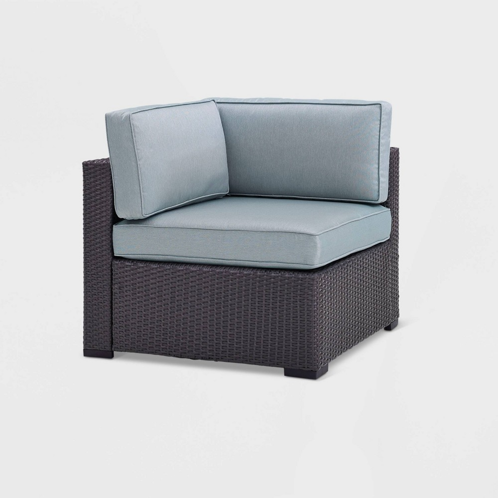 Biscayne Corner Chair with Mist Cushions Brown - Crosley