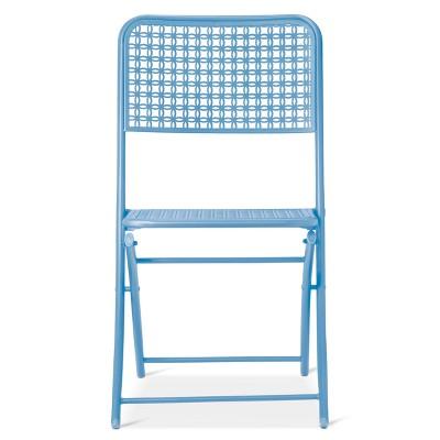 Metal Punch Folding Patio Bistro Chair - Blue - Threshold™