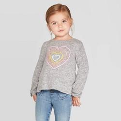 Toddler Girls' Heart Cozy Top - Cat & Jack™ Gray