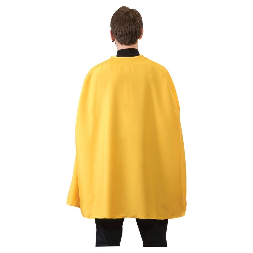 Image of Superhero Cape Adult Yellow - One Size, Adult Unisex