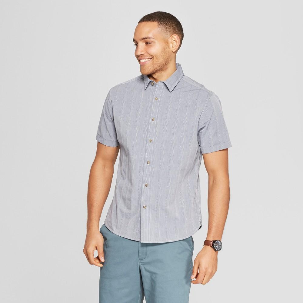 ZXFHZS Men Vertical Striped Business Button Down Long-Sleeve Dress Shirts