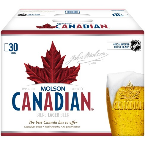 Molson Canadian Beer - 30pk/12 fl oz Cans - image 1 of 2