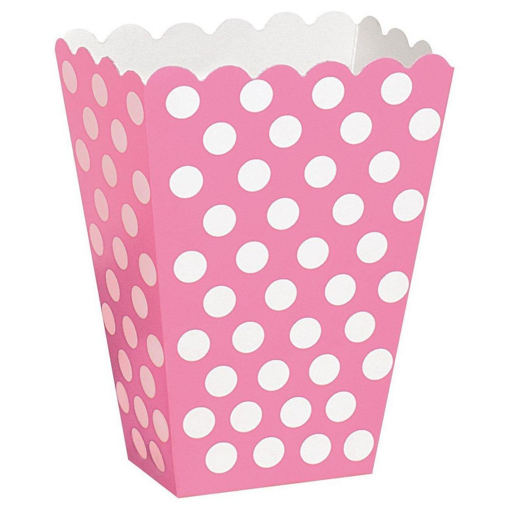 Image of 8 ct Pink Dot Treat Boxes