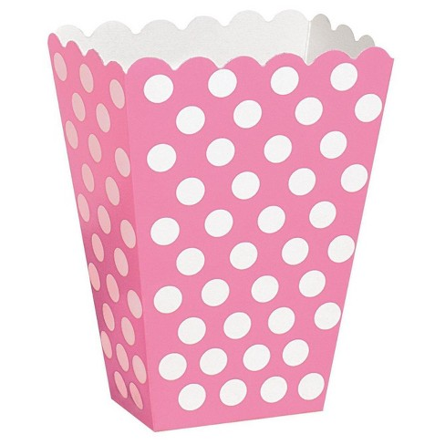 8 ct Pink Dot Treat Boxes - image 1 of 1