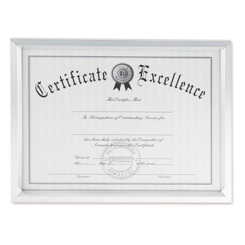 Universal® Plastic Document Frame, for 8 1/2 x 11, Easel Back ...