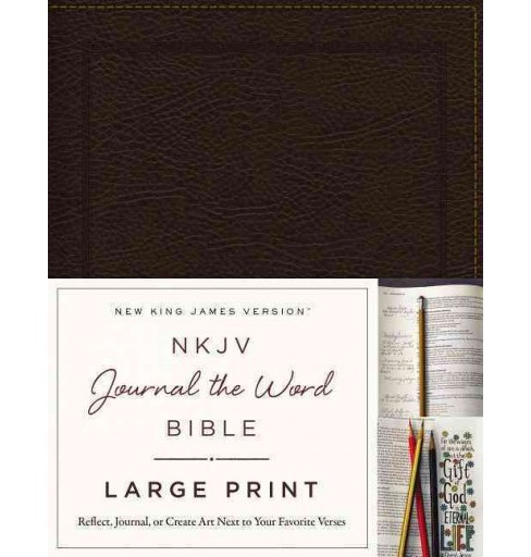 Holy Bible : New King James Version, Brown, Bonded Leather, Journal the Word Bible, Red Letter Edition; - image 1 of 1
