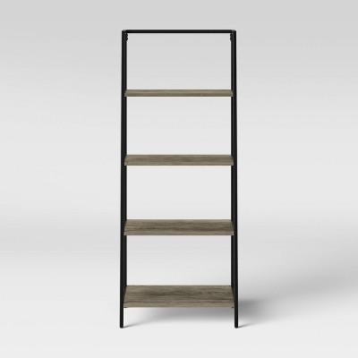 "60.25"" 4 Shelf Loring Trestle Decorative Bookshelf Gray - Project 62™"