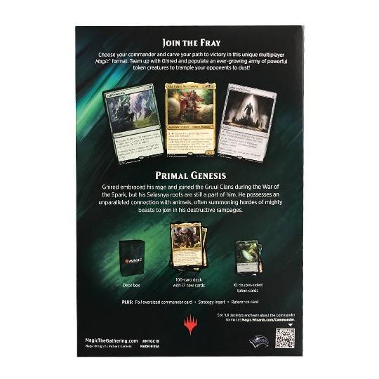Magic The Gathering Commander Primal Genesis Deck image number null
