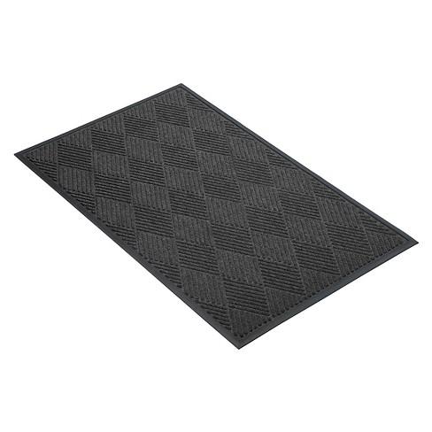 Charcoal Solid Doormat - (4'X6') - HomeTrax - image 1 of 4