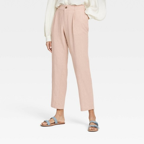 Women's High-Rise Pleat Front Straight Leg Ankle Pants - A New Day™ - image 1 of 3