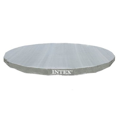 Intex 28041E UV Resistant Deluxe Debris Pool Cover for 18-Foot Intex Ultra Frame Round Above Ground  Swimming Pools with Drain Holes