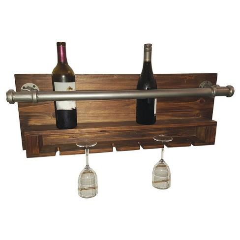 Wall Decor Industrial Wine Rack Home Source Target