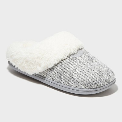 Women's dluxe by dearfoams Carol Scuff Slide Slipper - Gray M