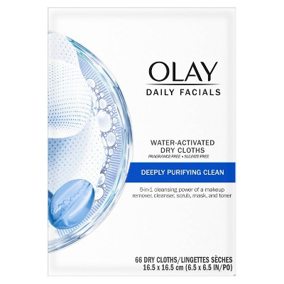 Olay Daily Facials Deep Purifying Cleansing Cloths - 66ct