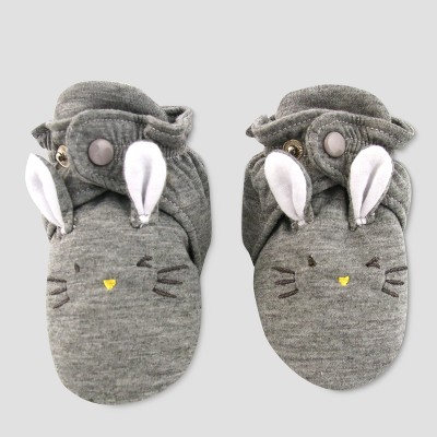 Baby Slipper Socks with Rabbit Face - Cat & Jack™ Gray 6-9M