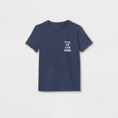 Boys' Short Sleeve 'Full of Sunshine' Graphic T-Shirt - Cat & Jack™ Navy
