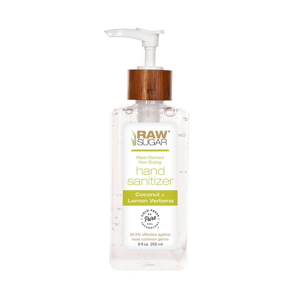 Image of Raw Sugar Coconut + Lemon Verbena Hand Sanitizer - 9 oz