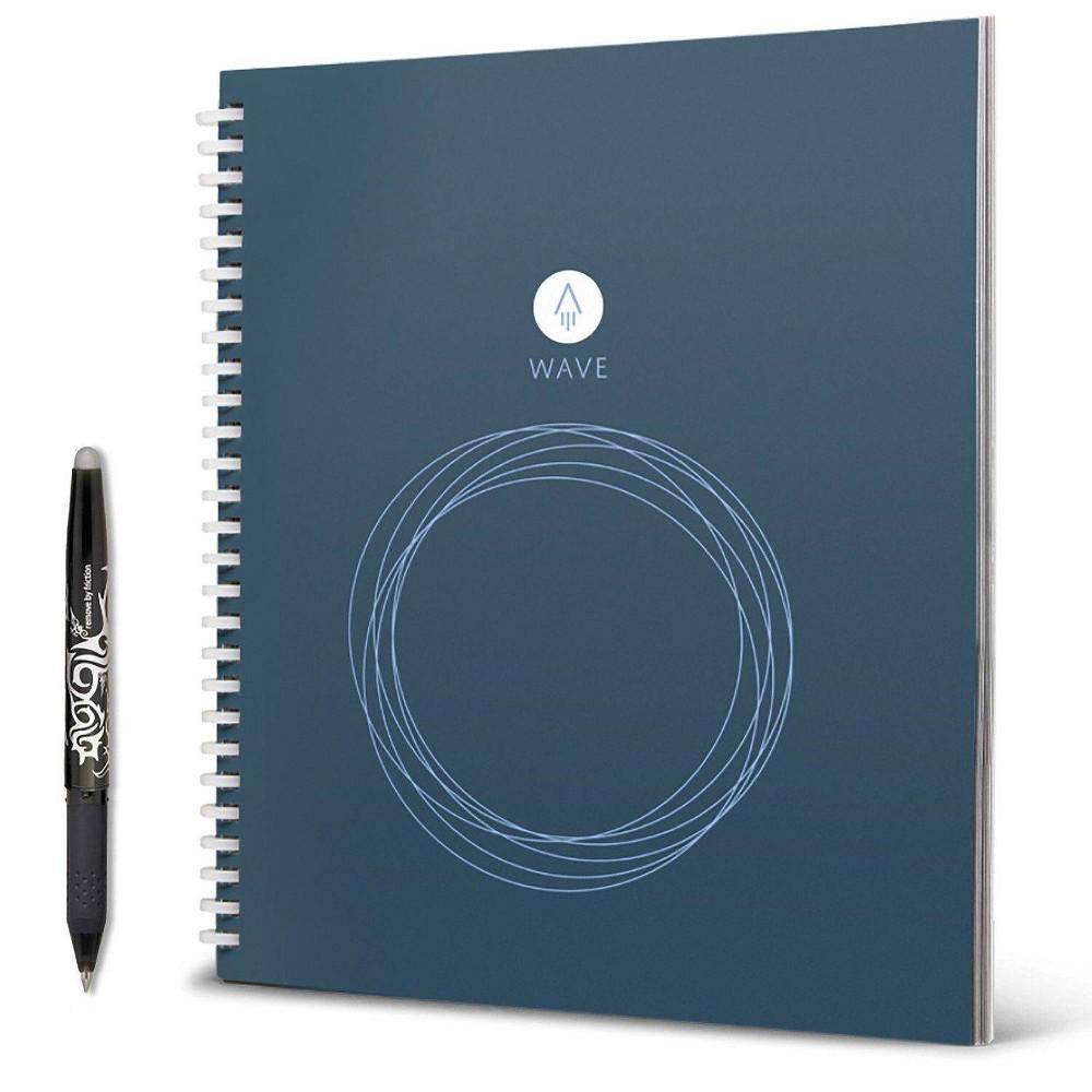 Image of Rocketbook Wave Smart Notebook Spiral 1 Subject Blue