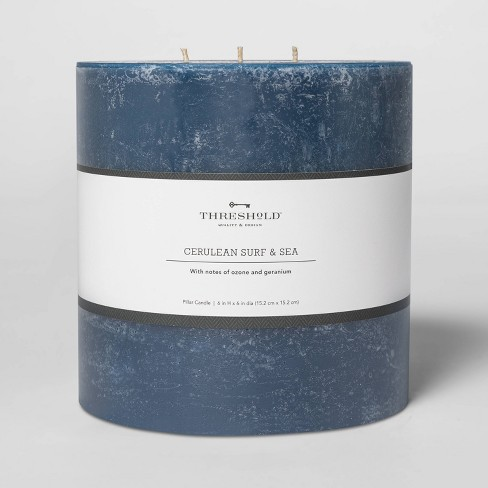 Pillar Cerulean Surf and Sea Candle Navy - Threshold™ - image 1 of 2