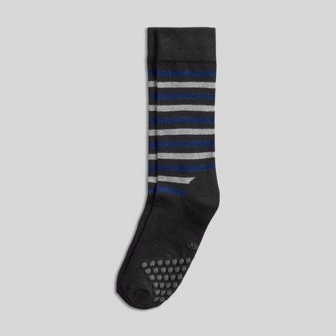 Jockey Generation Men's Striped Diamond Cushion Comfort Crew Socks - Black 7-12 - image 1 of 2