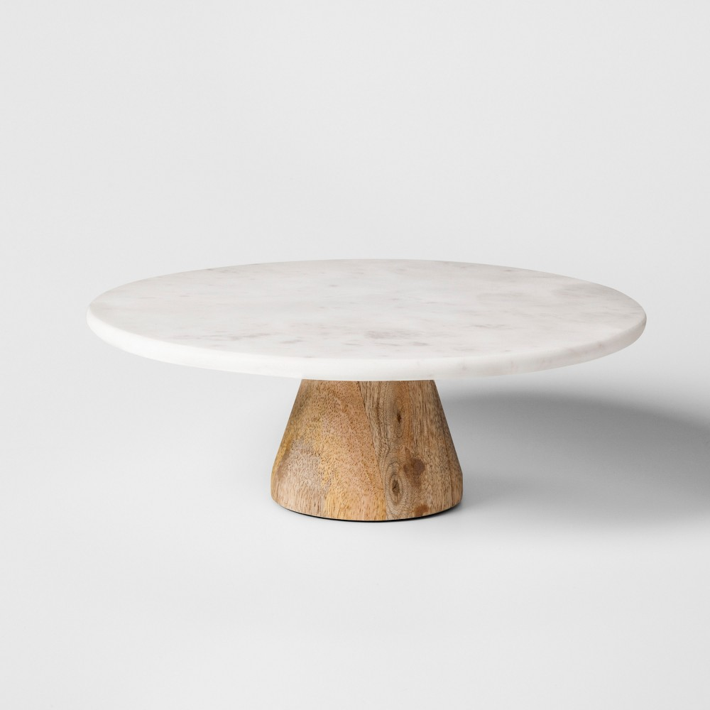 Image of Marble & Acacia Cake Stand - Project 62